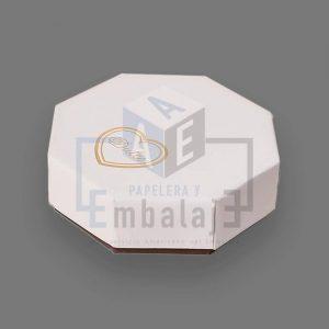 caja para bombones octogonal