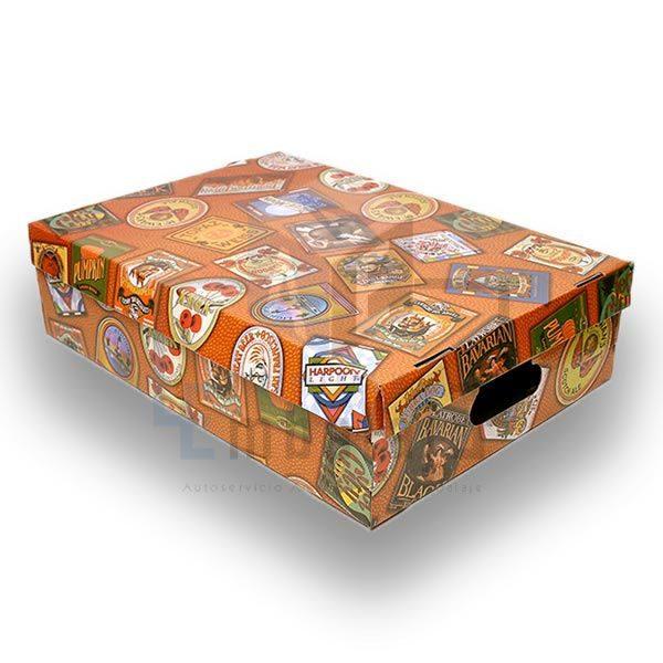caja plastificada bajo cama con tapa