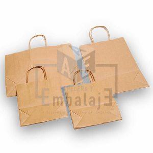 bolsas de papel kraft con manija