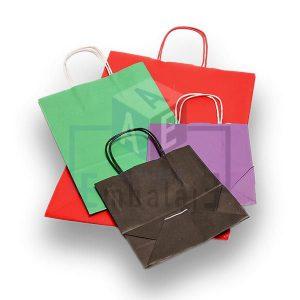 bolsas de papel color con manija