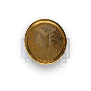 plato diplomatico carton dorado