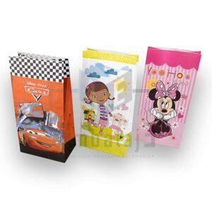 bolsas de papel para cotillon disney