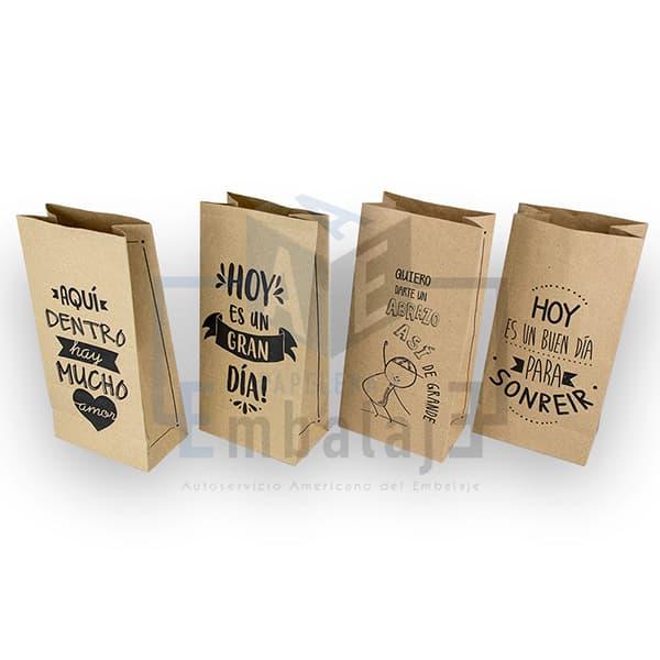Bolsas De Papel Kraft Con Frases Delivery