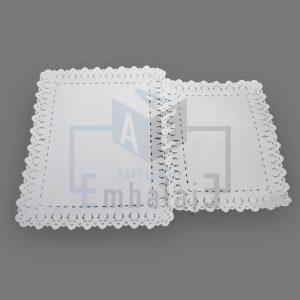 blonda de papel para torta rectangular