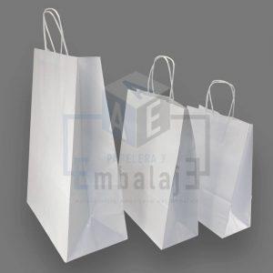 bolsas de papel blancas con manija