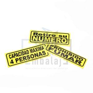 stickers carteles autohadesivos