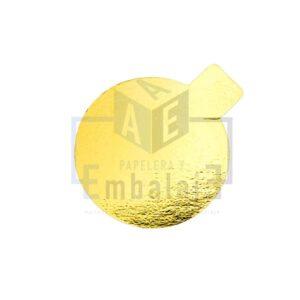 disco con pestaña oro