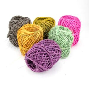 hilo sisal de colores