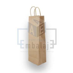 bolsas para botella papel kraft