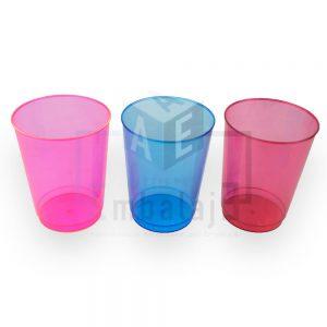 vaso plastico descartable fluo color